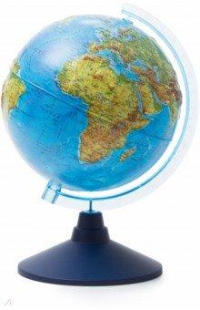 Глобус Земли физический рельефный (d=210 мм) (Ке022100183)Глобусы<br>Глобус Земли физический рельефный<br>Диаметр - 210 мм.<br>На пластиковой подставке. <br>Сделано в России.<br>