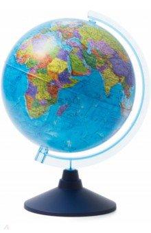 Глобус Земли политический (d=250 мм) (Ке012500187)Глобусы<br>Глобус Земли политический<br>Диаметр - 250 мм.<br>На пластиковой подставке.<br>Крым в составе РФ. <br>Сделано в России.<br>