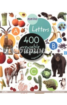 Eyelike Letters. Sticker bookИзучение иностранного языка<br>EyeLike Stickers are the freshest, most vibrant sticker books on the market with 400 high-quality photographic stickers in each book.<br>