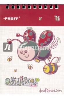 Блокнот Doodle Boos (40 листов, A6, клетка, евроспираль) (DD15-NBS640) Proff