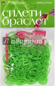 Набор резинок для плетения, 300шт, НЕОН ЗЕЛЕНЫЙ (22-300/14)