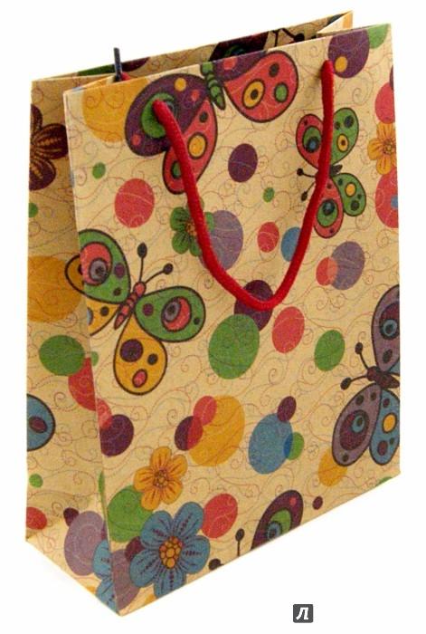 """Иллюстрация 1 из 4 для Пакет бумажный """"Бабочки маленький"""" (19х24,5х8 см) (38859)   Лабиринт - сувениры. Источник: Лабиринт"""