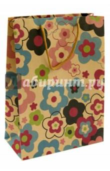 """Пакет бумажный """"Цветочные бутоны"""" (24х33х8 см)  (38875)"""