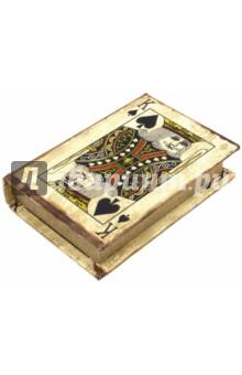 Карты игральные Король пик (36312)Другое<br>Набор игральных карт.<br>1 колода.<br>Размер коробки 13,5 х 9,6 х 2,8 см.<br>Подарочная коробка из МДФ.<br>Материал: бумага.<br>Сделано в Китае.<br>