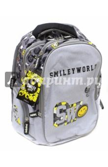 Рюкзак подростковый Smiley (SM15-BP-08)Рюкзаки школьные<br>Рюкзак подростковый.<br>Для транспортировки и хранения личных вещей.<br>В рюкзаке:<br>- 2 больших отделения на молнии<br>- 2 наружных кармана на молнии<br>- 2 боковых кармана на молнии<br>Уплотненные лямки.<br>Длина лямок регулируется.<br>Материал: внешние поверхности, подкладка - полиэстер; уплотнители - поролон; элементы отделки - пластик, металл, ПВХ.<br>Сделано в Китае.<br>
