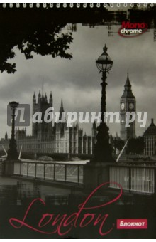 "Блокнот 50 листов, А4, гребень ""Лондон"" (C0253-19)"