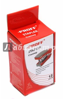 Степлер, красный (PF-1338-01)Степлеры<br>Вашему вниманию предлагается степлер.<br>Мощность - 12 листов.<br>Надежный пластиковый корпус<br>Эргономичная накладка<br>Возможность вертикальной установки <br>С антистеплером <br>Отделение для хранения запасных скоб<br>Скобы - 24/6 и 26/6<br>Цвет корпуса: красный<br>Сделано в Китае.<br>