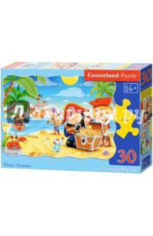 Puzzle-30 MIDI Пиратские сокровища (В-03488)Пазлы (15-50 элементов)<br>Пазл-мозаика.<br>Способствуют развитию образного и логического мышления, наблюдательности, мелкой моторики и координации движений руки.<br>Размер собранной картинки: 32х23 см<br>Количество элементов: 30<br>Материал: картон.<br>Упаковка: картонная коробка.<br>Правила игры: вскрыть упаковку и собрать игру по картинке.<br>Для детей от 4-х лет.<br>Не давать детям до 3-х лет из-за наличия мелких деталей.<br>Сделано в Польше.<br>