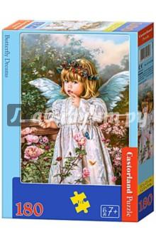 Puzzle-180 Ангел с бабочкой (В-018208)Пазлы (100-170 элементов)<br>Пазл-мозаика.<br>Способствуют развитию образного и логического мышления, наблюдательности, мелкой моторики и координации движений руки.<br>Размер собранной картинки: 32х23 см<br>Количество элементов: 180<br>Материал: картон.<br>Упаковка: картонная коробка.<br>Правила игры: вскрыть упаковку и собрать игру по картинке.<br>Для детей от 7-ми лет.<br>Не давать детям до 3-х лет из-за наличия мелких деталей.<br>Сделано в Польше.<br>