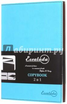 Сopybook 2в1 (160 листов, ШОКОЛАДНЫЙ/БИРЮЗОВЫЙ) (39445-15)