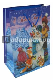 Пакет бумажный новогодний 26*32.4*12.7 см (38562) Феникс-Презент