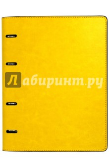 Тетрадь (80 листов, на кольцах, клетка, Желтая+ Коричневая) (37932-10) Феникс+
