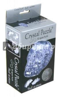 3D головоломка Череп, серебристый (90117)Головоломки<br>3D головоломка Череп.<br>После сборки у вас будет кристальный череп.<br>Цвет: серебристый.<br>Инструкция внутри.<br>Количество деталей: 49.<br>Сделано из пластика.<br>Рекомендуемый возраст: от 14 лет.<br>Запрещено детям до 3-х лет. Содержит мелкие детали.<br>Упаковка: блистер.<br>Сделано в Китае.<br>