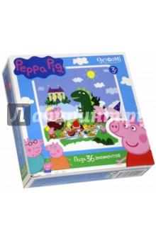 Пазл-36 Peppa Pig (01549)Пазлы (15-50 элементов)<br>Пазл.<br>36 элементов.<br>Размер: 212х212 мм.<br>Изготовлено из картона и бумаги.<br>Не рекомендовано детям младше 3-х лет. Содержит мелкие детали.<br>Сделано в России.<br>