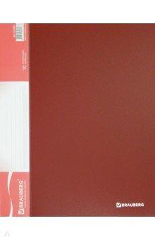 Папка (10 вкладышей, стандарт, красная) (221590) Brauberg