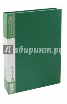 Папка (40 вкладышей, горизонтальные линии, зеленая) (221779) Brauberg