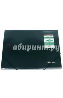 Папка на резинках зеленая (221337) Brauberg