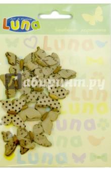 Бабочки расписные, 11 штук (0620413)Украшения из бисера, бусин, страз и ниток<br>Бабочки расписные для декорирования.<br>11 штук.<br>Материал: бумага, дерево.<br>Упаковка: блистер.<br>Сделано в Индии.<br>