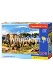 Puzzle-300 Утро в Килиманджаро (В-030019)Пазлы (200-360 элементов)<br>Пазл-мозаика.<br>300 элементов.<br>Размер картинки: 40 х 29 см.<br>Материал: картон.<br>Упаковка: картонная коробка.<br>Для детей от 8 лет.<br>Сделано в Польше.<br>