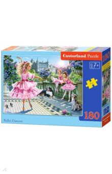 Puzzle-180 Балерины (В-018222)Пазлы (200-360 элементов)<br>Пазл-мозаика.<br>180 элементов.<br>Размер собранной картинки 32 х 23 см.<br>Материал: картон.<br>Упаковка: картонная коробка.<br>Для детей от 7 лет.<br>Сделано в Польше.<br>