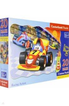 Puzzle-20 MAXI Гонка (С-02306)Пазлы (15-50 элементов)<br>Пазл-мозаика MAXI.<br>20 элементов.<br>Размер собранной картинки 59 х 40 см.<br>Материал: картон.<br>Упаковка: картонная коробка.<br>Для детей от 4 лет.<br>Сделано в Польше.<br>