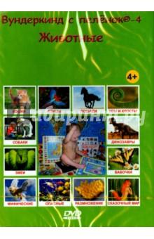 Вундеркинд с пеленок-4. Животные на русском языке (DVD)Для будущих мам и детей<br>Как пчёлы делают мёд? Зачем зебре полоски, а жирафу пятна? Какие бывают клювы? Как жили динозавры? Зачем нужны усы и хвосты? Как размножаются разные животные? Кто где живёт и кто что ест? Какие животные самые опасные? Кто такие василиск, единорог и ехидна? Как звери воспитывают своих детёнышей? Кто такие ластоногие и рукокрылые?<br>Обо всём этом расскажет вашему ребёнку эта уникальная видео энциклопедия.<br>Дети узнают тысячи интересных фактов о животных, познакомятся как с известными, так и с малоизученными обитателями нашей планеты. Просмотр красочных и увлекательных слайдов превратится в любимое занятие всех «почемучек». Программа заинтересует не только вашего малыша, но и его старшего брата - школьника, да и взрослый найдет здесь много интересного для себя. Подарите вашему ребёнку радость познания!<br>Практика показала, что для большинства детей просмотр ярких, озвученных картинок становится любимым занятием, они требуют показывать еще и еще. По мнению американского врача Глена Домана, основателя Института ускоренного развития ребенка такое обучение (даже по 5-10 минут в день) стимулирует развитие различных отделов головного мозга, благодаря чему у ребенка формируется фотографическая память, ребенок развивается гораздо быстрее сверстников, и с рождения открывает для себя мир энциклопедических знаний.<br>Главное, в чем Доман, несомненно, прав, это то, что чем меньше ребенок, тем легче он впитывает любые новые для него знания. Нужно успеть воспользоваться этим!<br>Не стоит опасаться «приучать» ребёнка к компьютеру с раннего возраста - ведь в этом возрасте одно занятие длится всего несколько минут, а нагрузка на глаза минимальная - как при просмотре диафильма или яркой книжки. В презентациях нет присущей телевидению смены 24 кадров в секунду, а изображение и подпись к нему задерживаются на экране, пока длится звук.<br>188 минут, DVD-9 (2-слойный) , 4:3.<br>
