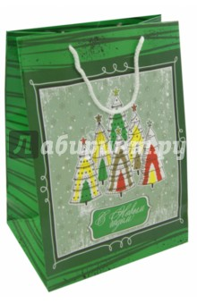 """Пакет А4 """"Зеленый с елками"""" (УП4-0011) Кубаньпечать"""