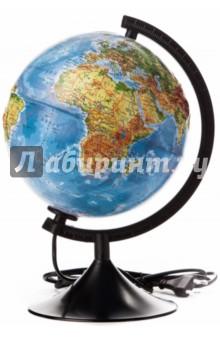 Глобус Земли физический, d-210 мм, рельефный, подсветка (К022100013) Globen