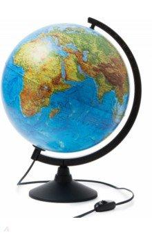 Глобус Земли физический, d-320 мм, подсветка (К013200017) Globen