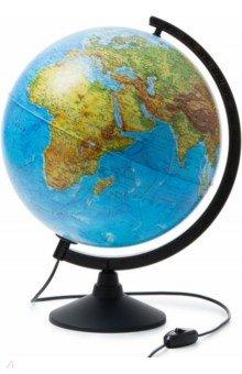 Глобус Земли физико-политический d320, подсветка (К013200101) Globen