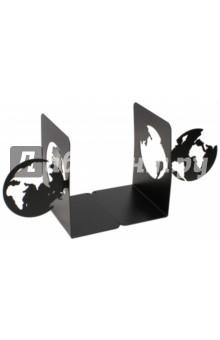 Подставка-ограничитель для книг Планета (2 штуки) (40647)Другое<br>Декоративная подставка-ограничитель для книг.<br>Комплект из 2 штук.<br>Размер: 15х8х12 см.<br>Материал: черный окрашенный металл с антискользящими подложками из ЭВА (этиленвинилацетата).<br>Упаковка: картонная коробка<br>Сделано в Китае.<br>