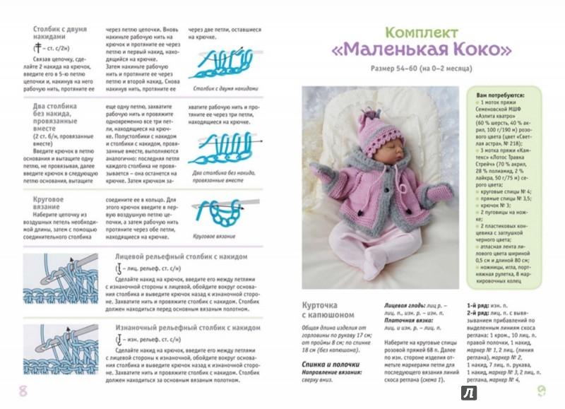 Вязание спицами для малышам с подробным описанием 664