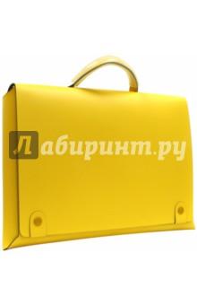 Папка-портфель желтого цвета (350691) (SM005 Y)Папки-портфели (с пластиковыми отделениями)<br>Папка-портфель.<br>Магнитная кнопка.<br>Цвет: желтый.<br>Размер: 40х30х6 см.<br>Материал: натуральная кожа.<br>Сделано в Китае.<br>