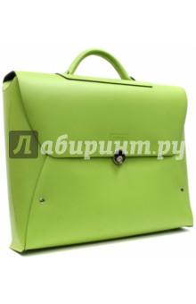 Портфель с металлической застежкой (зеленый) (SM002)