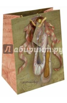 """Пакет бумажный 17.8x22.9x9.8 """"Пуанты"""" (35935) Феникс-Презент"""