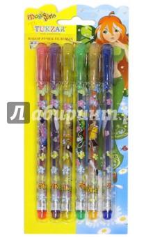Набор ручек гелевых с блестками, 6 цветов (TZ 5216- 6)Наборы гелевых ручек<br>Набор ручек гелевых.<br>В наборе 6 цветов<br>Пишущий узел 0.8 мм<br>Гелевый тип чернил с блестками<br>Пластиковый корпус с запечаткой<br>Сменный стержень<br>Состав: металл, пластик, чернила, блестки.<br>Сделано в  Китае.<br>