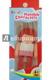 Девочка. Подвижный персонаж (Р3025)Люди<br>3D пазл (мягкий конструктор).<br>Не содержит тяжелых металлов, ПВХ.<br>Не рекомендовано детям младше 4-х лет. Содержит мелкие детали.<br>Сделано в Тайване.<br>
