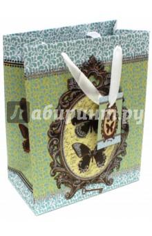 "Пакет бумажный ""Бабочки"" (17,8х22,9х9,8 см) (40875) Феникс-Презент"