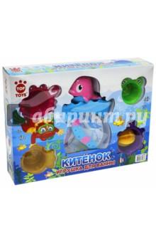 Набор игровой для ванной Китёнок (GT8897)Игрушки для ванной<br>Набор игровой для ванной Китёнок.<br>В наборе водяная мельница и забавные формочки.<br>Изготовлено из полимерных материалов.<br>Для детей с 1-го года.<br>Сделано в Китае.<br>