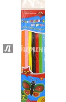 Цветной гофрокартон для квиллинга, 42 полоски, 7 цветов. Бабочка (С1912-02) АппликА