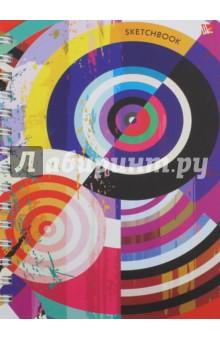 Скетчбук Яркая абстракция (100 листов, твердая обложка)Блокноты тематические<br>Скетчбук Яркая абстракция.<br>Количество листов: 100<br>Бумага: офсет<br>Крепление: спираль<br>Обложка: твердая<br>Сделано в России.<br>