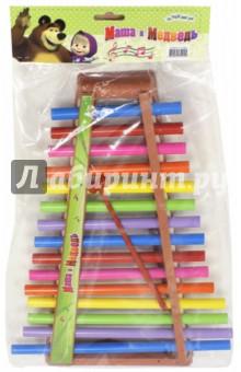 Металлофон (GT8547)Музыкальные инструменты<br>Металлофон от любимых героев мультфильма Маша и Медведь.<br>Материал: пластмасса с элементами из металла.<br>2 молоточка в комплекте.<br>Упаковка: блистер.<br>Сделано в Китае.<br>