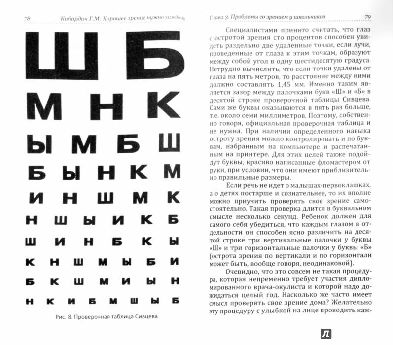 Как проверить свое зрение в домашних условиях таблица 179