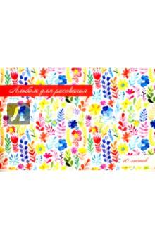 """Альбом для рисования """"Акварельные цветы"""" (40 листов) (40390-5) Феникс+"""
