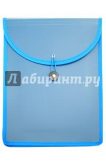 Папка для документов Синяя (А4, застежка) (40560-12)Папки-конверты на молнии<br>Папка для документов.<br>На застежке-резинке.<br>Формат: А4<br>Размер: 260х340 мм.<br>Материал: пластик.<br>Сделано в Китае.<br>