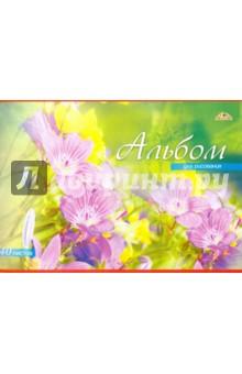 """Альбом для рисования """"Цветы"""" (40 листов) (С0220-37) АппликА"""