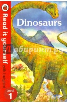 DinosaursЛитература на иностранном языке для детей<br>This book helps you to find out all about the dinosaurs that lived a long, long time ago - big ones, small ones, scary meat-eaters and peaceful plant-eaters. For over thirty-five years, the best-selling Read it yourself with Ladybird has helped children learn to read. All titles feature essential key words. Title-specific words are repeated to practise throughout. It is designed to be read independently at home or used in a guided reading session at school. All titles include comprehension questions or puzzles, guidance notes and book band information for schools. This Level 1 title is suitable for very early readers who are ready to take their first steps in reading. It offers a small number of frequently repeated words, simple facts, clearly labelled images and captions fully engage the reader. It includes contents, index and a picture glossary.<br>