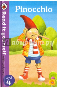 PinocchioЛитература на иностранном языке для детей<br>Pinocchio is a naughty puppet who wants to be a real boy. Find out what happens when he runs away from home. For over thirty-five years, the best-selling Read it yourself with Ladybird has helped children learn to read. All titles feature essential key words. Story-specific words are repeated to practise throughout. Designed to be read independently at home or used in a guided reading session at school. All titles include comprehension questions or puzzles, guidance notes and book band information for schools. This Level 4 title is ideal for children who are ready to read longer stories with a wider vocabulary and are keen to start reading independently.<br>