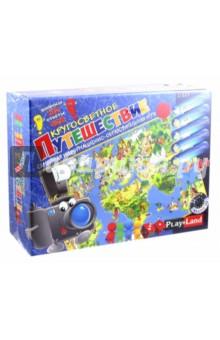 Настольная игра Кругосветное путешествие (L-127)Приключения<br>Интригующая игра для всей семьи.<br>В порыве к победе, игрок отправляется в виртуальное путешествие и получает интересную информацию и знания о странах.<br>Для всех возрастов.<br>Комплектность: игровое поле - 1, жетоны красные - 60 шт., жетоны желтые - 24 шт., карты - 72 шт., карты Экскурсия - 20 шт., банкноты - 60 шт., паспорта - 4 шт., книжка - 1 шт., игровые фигуры - 4 шт., игровая кость - 1 шт. <br>Не рекомендовано детям младше 3-х лет. Содержит мелкие детали.<br>Сделано в Болгарии.<br>