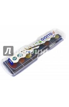 Краски акварельные металик 8 цветов + кисточка (331100) Fila